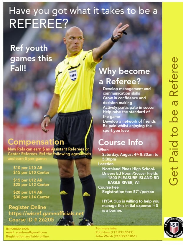 Referee Clinics Scheduling Online - Click to view upcoming events around the state